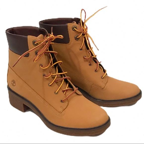 """Timberland Shoes - Timberland Brinda Wheat 6"""" Lace Up Boots Nubuck"""